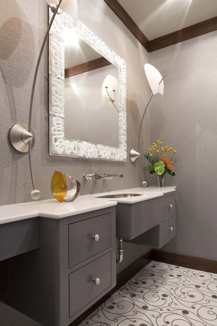 Powder Room contemporary bathroom