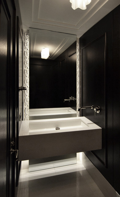 Powder room contemporary bathroom chicago by dspace studio ltd aia Bathroom light fixtures chicago