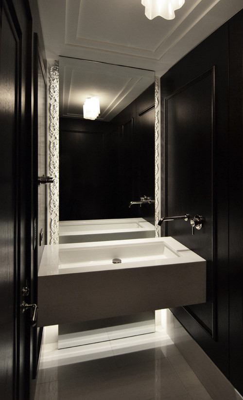 Formal Power Room contemporary bathroom