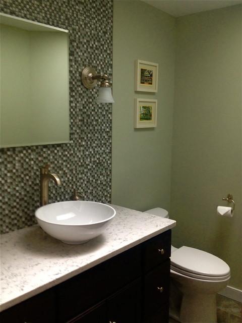 Powder Room Transitional Bathroom New York By Encore Design Associates Llc