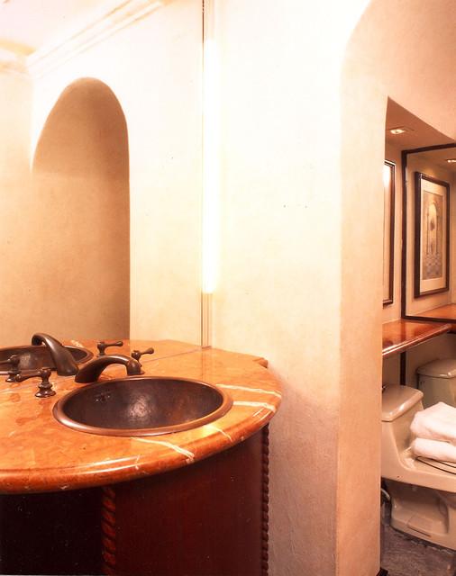 Powder room tropical-bathroom
