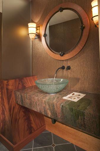 Powder Room rustic-bathroom