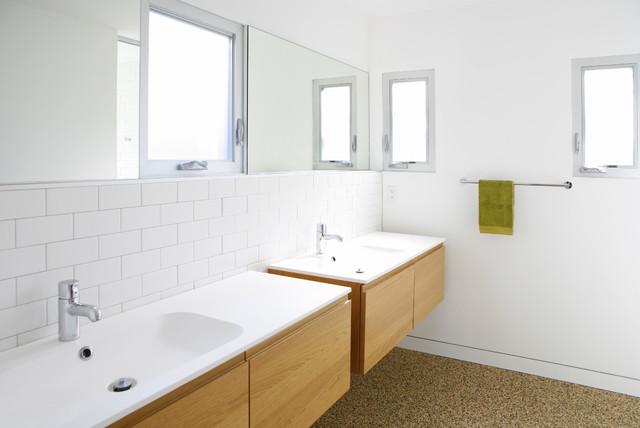 Powder Room Modern Bathroom Los Angeles By Ras A Inc