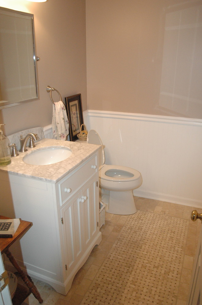 Powder room remodel - Traditional - Bathroom - Baltimore ...