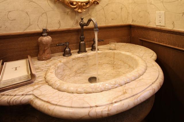 Mediterranean Bathroom Sinks: Powder Room Sink