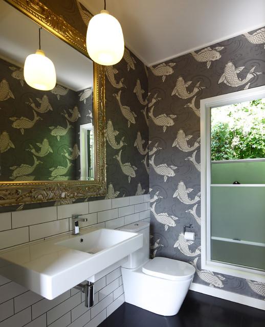 Powder Room Contemporary Bathroom Brisbane By