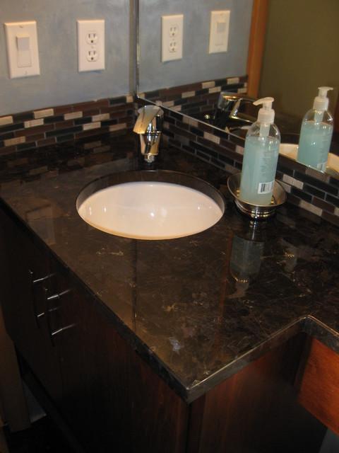Powder Room Transformation traditional-bathroom