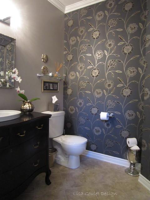 Powder room transformation classique salle de bain for Transformation salle de bain