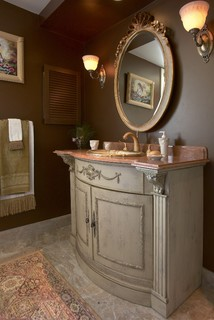 Powder Rooms Small Bath Ideas Traditional Bathroom Boston By Roomscapes Cabinetry And