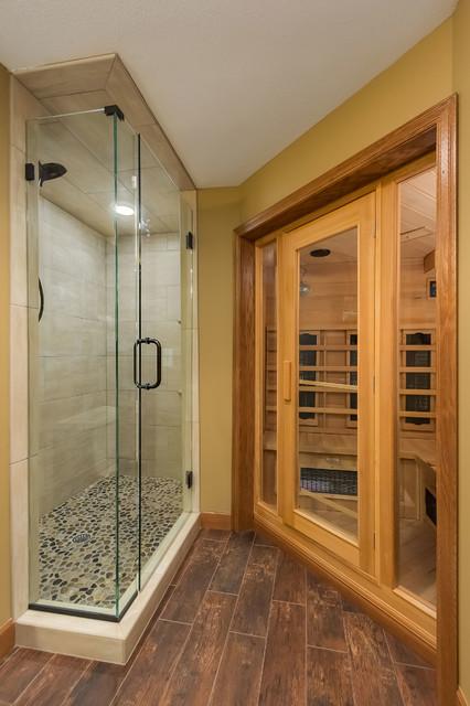Prairie Hills Basement Steam Room Shower Transitional Basement