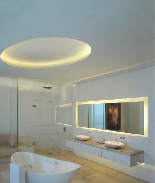 Brilliant View In Gallery Its Easy To Highlight A Shelf Or A Small Wall Unit With LED Strip Lights Just Attach Them To The  There Are Many Great Uses For LED Lights In The Bathroom For Example, LED Strips Or Tape Can Be Used To Outline A Bathroom