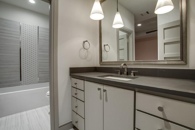 Preston Hollow Spec Home Modern Bathroom Dallas By Traci Connell Interiors