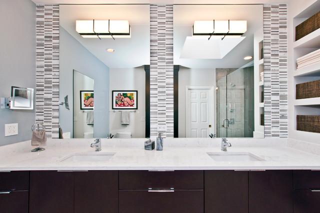Pretty In Porcelain Modern Bathroom Nashville By Hermitage Kitchen Design Gallery
