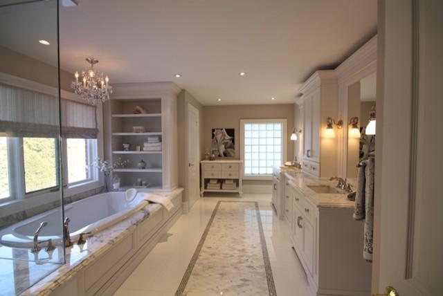Pretty master ensuite transitional bathroom toronto for Pretty master bathrooms