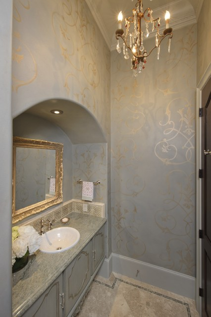 Pretty Powder traditional bathroom