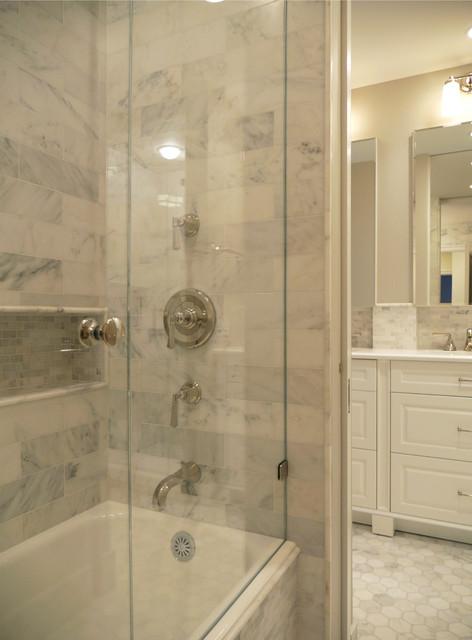 Prewar Master and Powder Bathroom traditional-bathroom