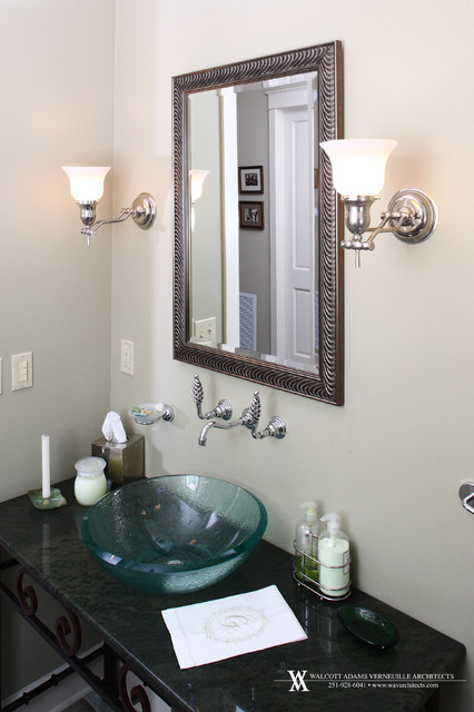 Private Home on Pond in the Southern Pines eclectic bathroom