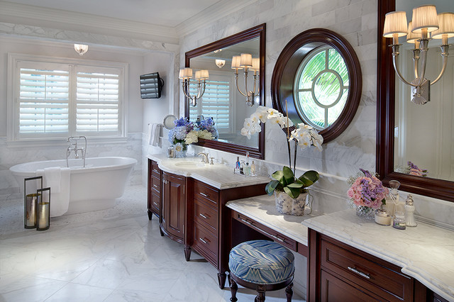 Private residence in british colonial style traditional for Colonial bathroom ideas