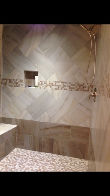 Private residence laurel ms transitional bathroom for Bathroom remodel jackson ms