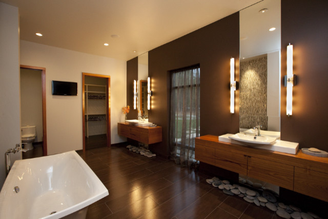 Private residence / Parade of homes contemporary-bathroom