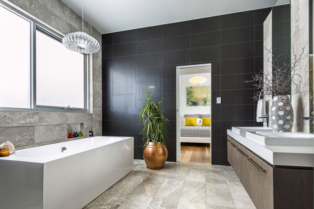 Private Residential Home Contemporary Bathroom