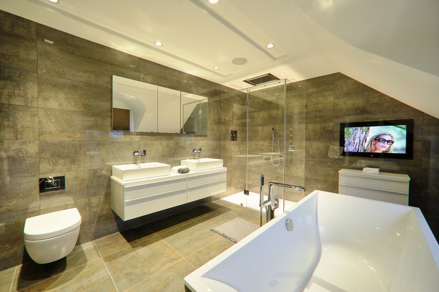 Bathroom Lighting Kent private residents nr maidstone kent - contemporary - bathroom