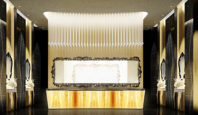 Private villa interior design dubai uae contemporary for Bathroom design uae