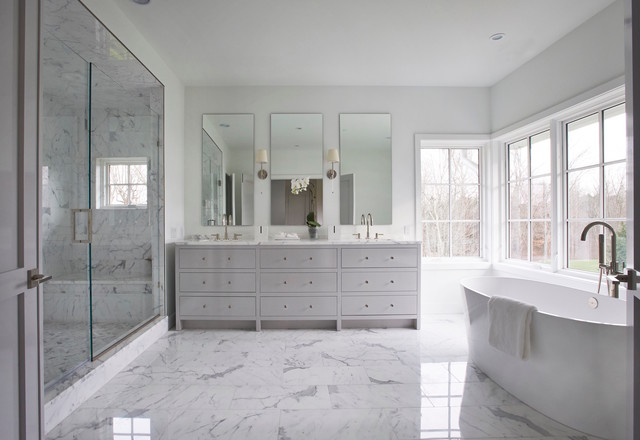 Project 1 Modern Transitional Bathroom New York