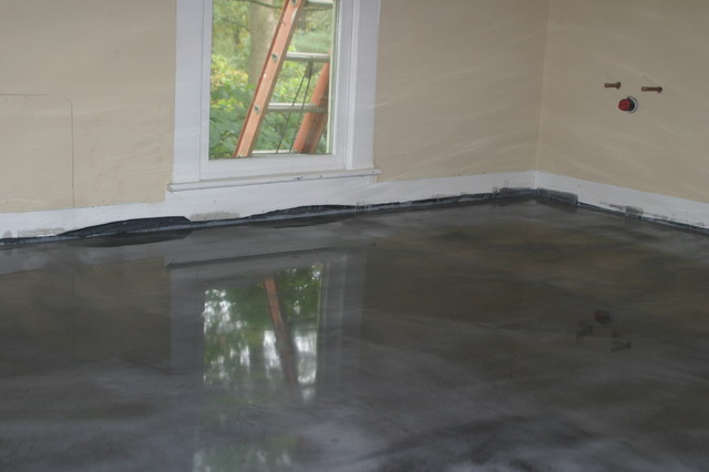 Project In Progress Full Bathroom Epoxy Floor Coating