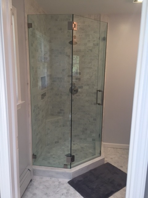 project marble for a stand up shower - modern - bathroom - new york