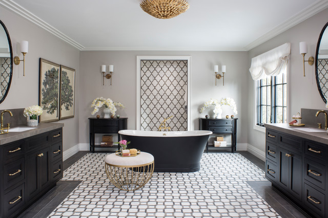 Property Brothers At Home Drew S Honeymoon House Transitional Bathroom Los Angeles By Breeze Giannasio Interiors