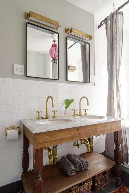 Reclaimed Wood Wall Bathroom Half Baths
