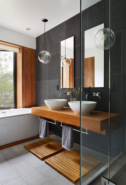 Prospect Heights Townhouse Contemporary Bathroom