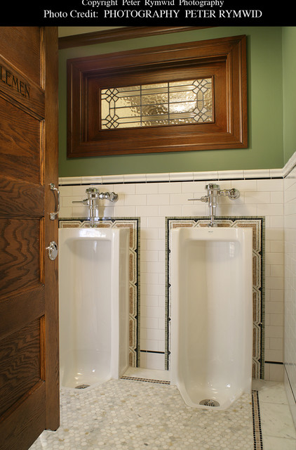 Pub Bath Gentlemen S Stalls Craftsman Bathroom New
