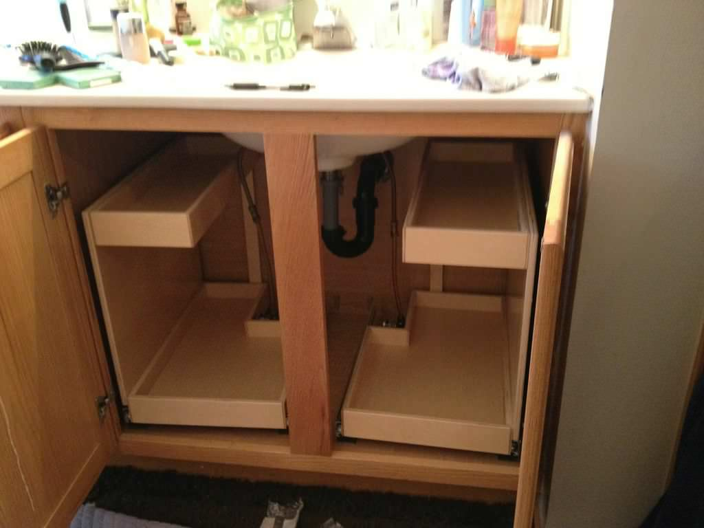 Pull Out Cabinet Bathroom Ideas Houzz