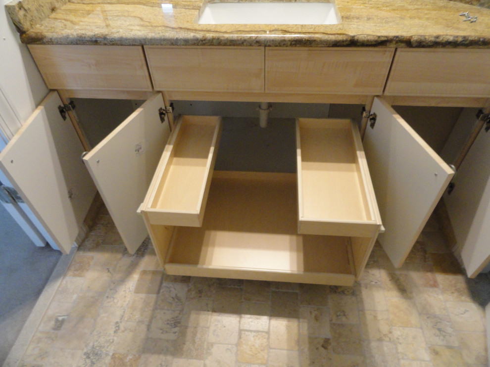Pull Out Shelves for Your Bathroom Vanity - Traditional ...