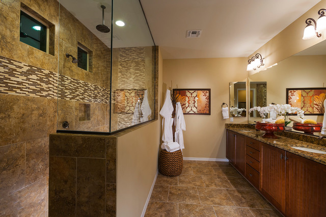 "Model Home Bathroom pulte homes-""liberty"" model home-vail, arizona - contemporary"