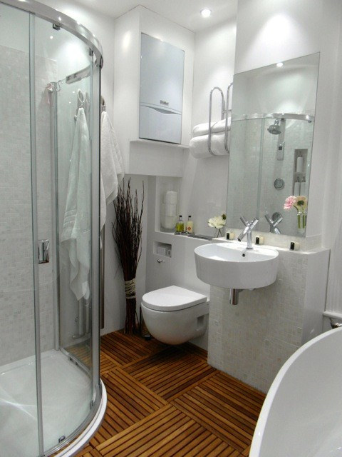 Pure White Freshwater Mother Of Pearl Mosaic Bathroom
