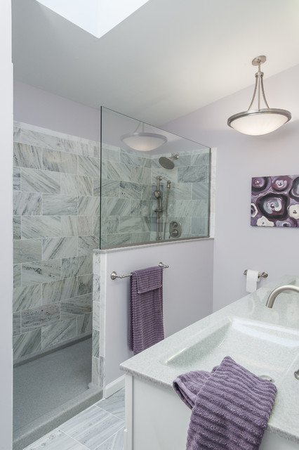 Purple And Gray Bathroom  Contemporary  Bathroom St