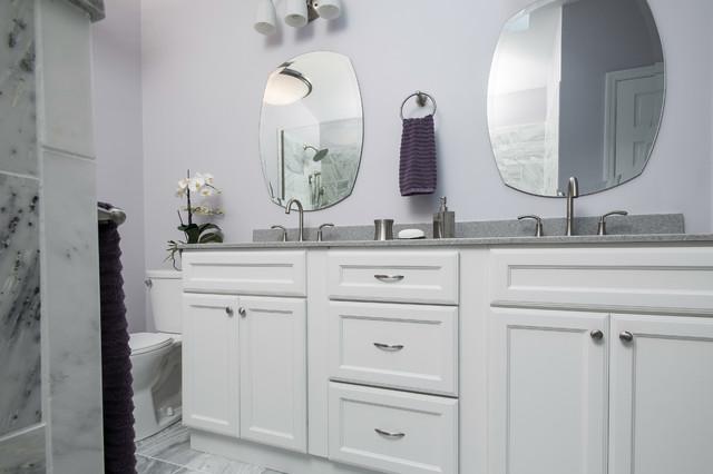 Purple And Gray Bathroom Contemporary