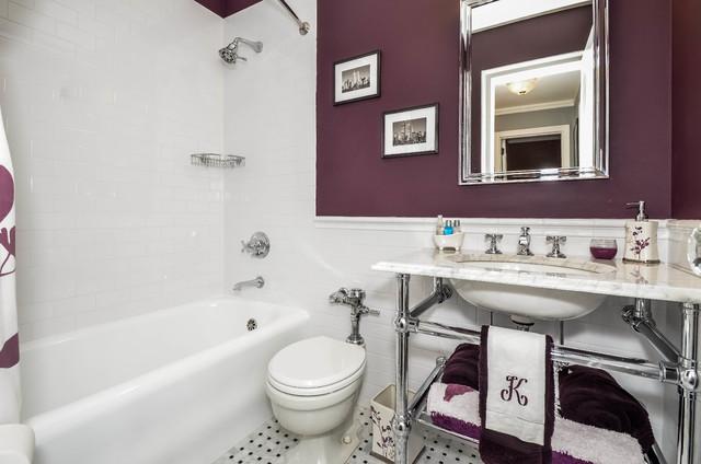 Purple Bath traditional-bathroom
