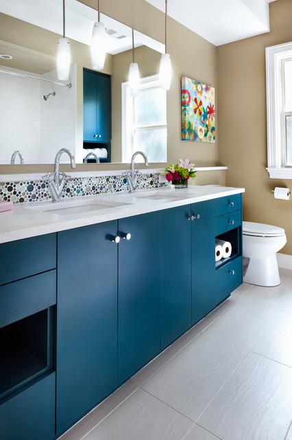 Purple house contemporary bathroom austin by cg s for Bathroom remodel 10k