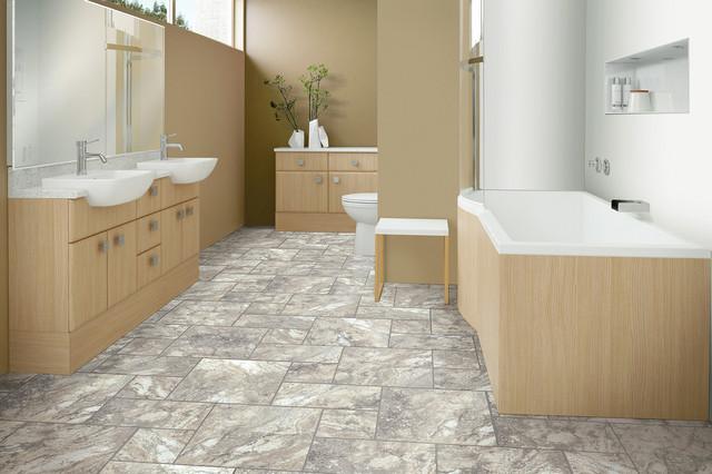 PURstone Royal Travertine Flooring Bathroom By America