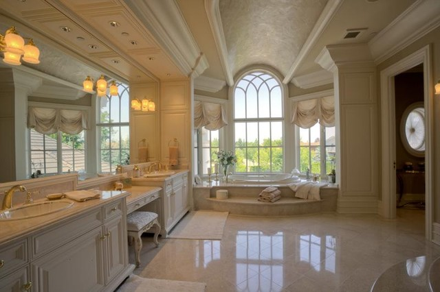 Mediterranean Style Luxury Bathrooms: Puryear Residence