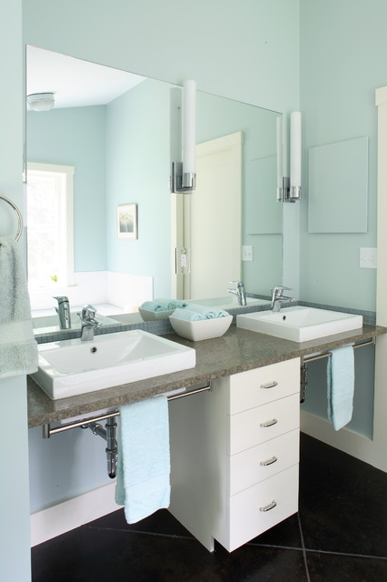 Quahog Bay Contemporary Bathroom Portland Maine By