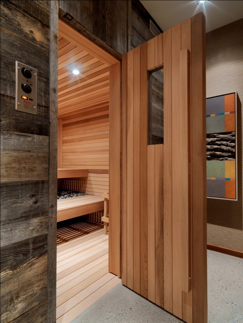 10 homes with saunas that will instantly relax you photos for Master bathroom with sauna