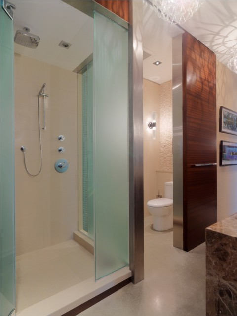 Quaker Bluff Residence rustic-bathroom