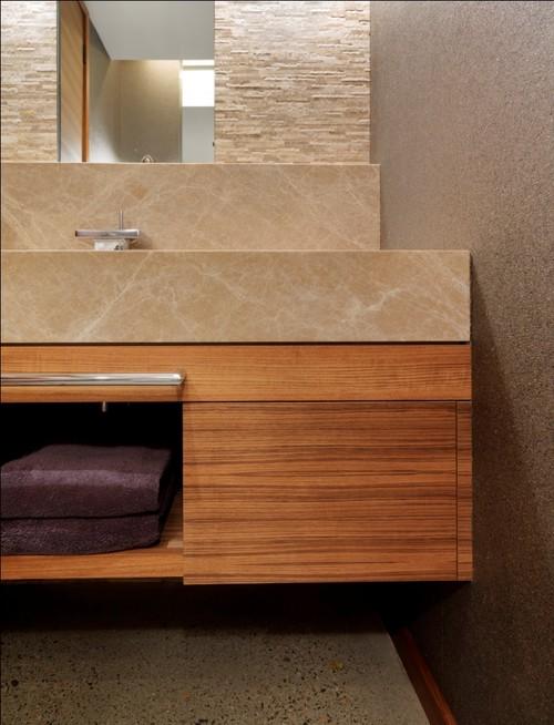 Quaker Bluff Residence modern bathroom