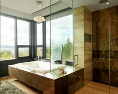 Quaker Bluff Residence rustic-bathroom