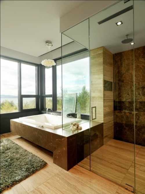 Quaker Bluff Residence modern bathroom